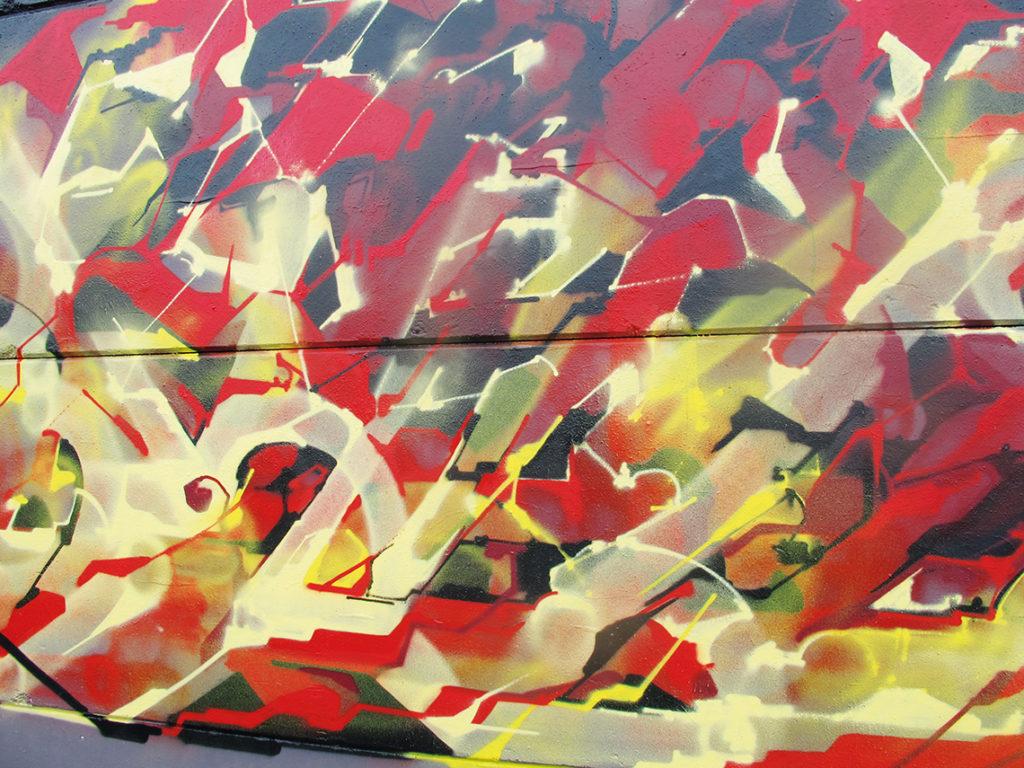 Allée du Kaai - Graffiti _eyes-b